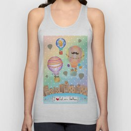 I {❤} Hot Air Balloon Unisex Tank Top