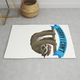 Sloth Fun Sorry I can't I have Plans with My Sloth Rug