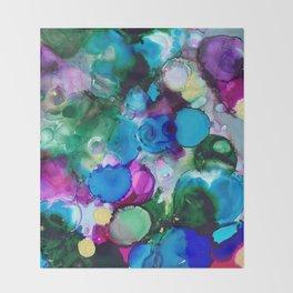 Blue Geodes in Fluid Motion Throw Blanket