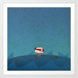 Little Red Pirate Art Print
