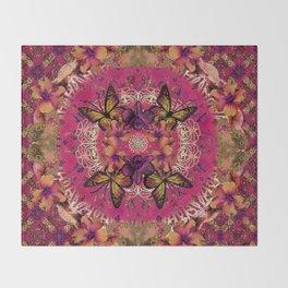 Victoria Mandala Collage Throw Blanket