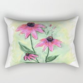 Purple Coneflowers Rectangular Pillow
