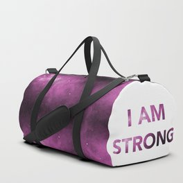 I am strong Inspirational Quote Duffle Bag