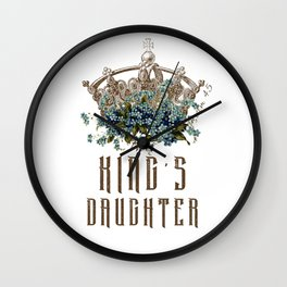 The King's Daughter Psalm 45 Floral Crown Wall Clock