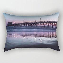 Sunset Beach Pier Rectangular Pillow