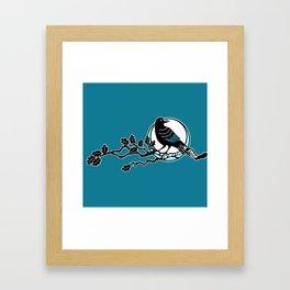 Crow and Oak Framed Art Print