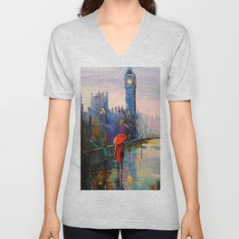 Rain in London Unisex V-Neck