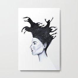 Demons in my head Metal Print