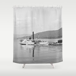 The Horicon I Steamboat 1904 Shower Curtain