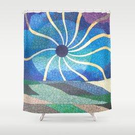 Eclipse Spirals Shower Curtain
