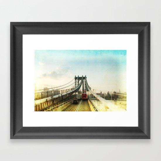New York Rising 04 _ manhattan bridge Framed Art Print