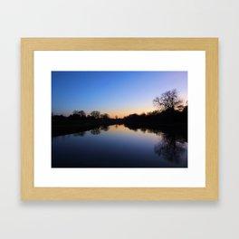 Reflections at Sunset Framed Art Print