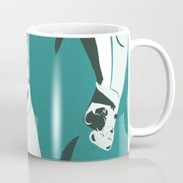 Weasel hugs in teal Coffee Mug