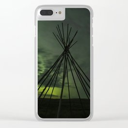 Teepee Northern Lights Clear iPhone Case