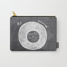 you are what you listen to, BLACK Carry-All Pouch