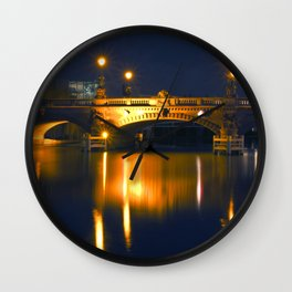 BERLIN NIGHT on the RIVER SPREE Wall Clock