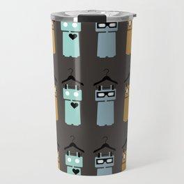 robots on hangers array Travel Mug