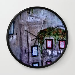 Houses in Milan in the evening Italy Wall Clock
