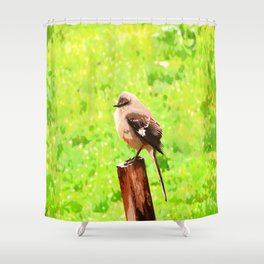 The Bird Painting Shower Curtain