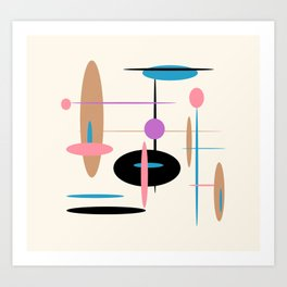 Candys Atomic Retro Design Art Print