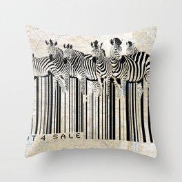 Zebra Barcode Throw Pillow