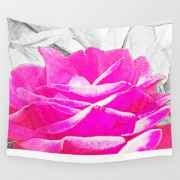 Chalk Rose Wall Tapestry