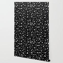White Terrazzo Wallpaper