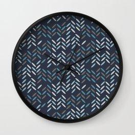 Knit pattern Wall Clock