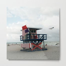 Miami lifeguard tower Metal Print