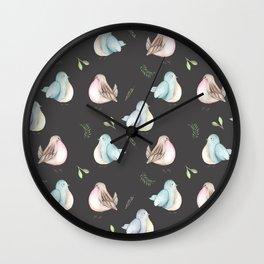 Little Birds Chatter Wall Clock