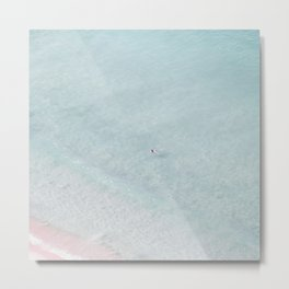 beach - the swimmer Metal Print