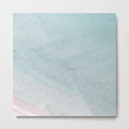 beach - the swimmer Metal Print