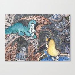 Alice and Caterpillar Canvas Print