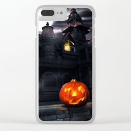 Happy Screaming Halloween Clear iPhone Case