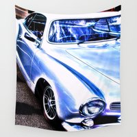 sports Wall Tapestries featuring VW Vintage Sports Car by Brian Raggatt