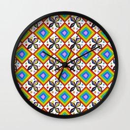 symetric patterns 75-mandala,geometric,rosace,harmony,star,symmetry Wall Clock