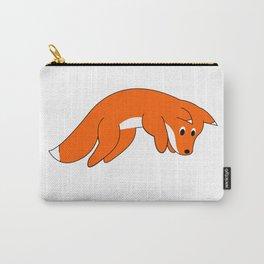 Cartoon Pouncing Fox Carry-All Pouch