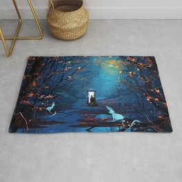 Tardis Lost In The Forest Rug
