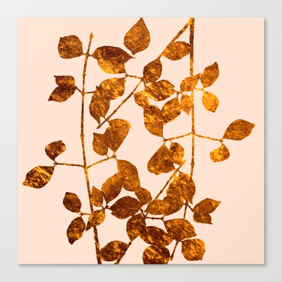 fall golden leaves Canvas Print