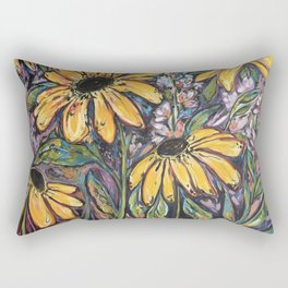 Sunflower Techno Dance Dance  Rectangular Pillow