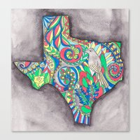 texas Canvas Prints featuring Texas by Laura Maxwell