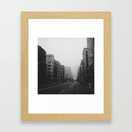 Woodward & John R...& Clifford - Detroit, MI Framed Art Print