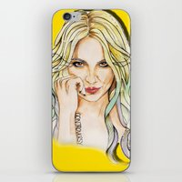 britney iPhone & iPod Skins featuring BRITNEY YELLOWNEY by CARLOS CASANOVA