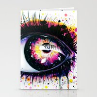 """pixies Stationery Cards featuring """"Follow me into wonderland"""" by PeeGeeArts"""