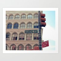 broadway Art Prints featuring - Broadway by Selma