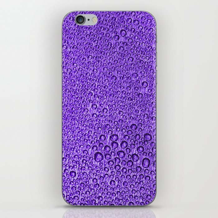 Water Condensation 05 Violet iPhone Skin
