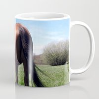 downton abbey Mugs featuring Abbey by Flakey 'n Friends and Tangled Tails by P