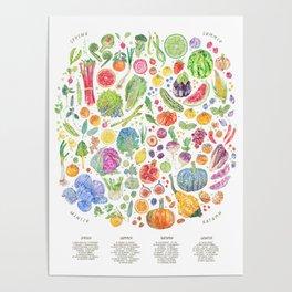 Seasonal Harvests Poster