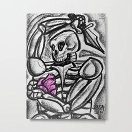 Heart & Dagger Metal Print