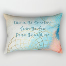 Live in the Sunshine Rectangular Pillow